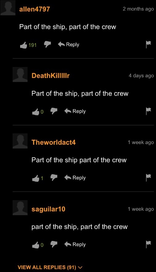 part of the ship, part of the crew - meme