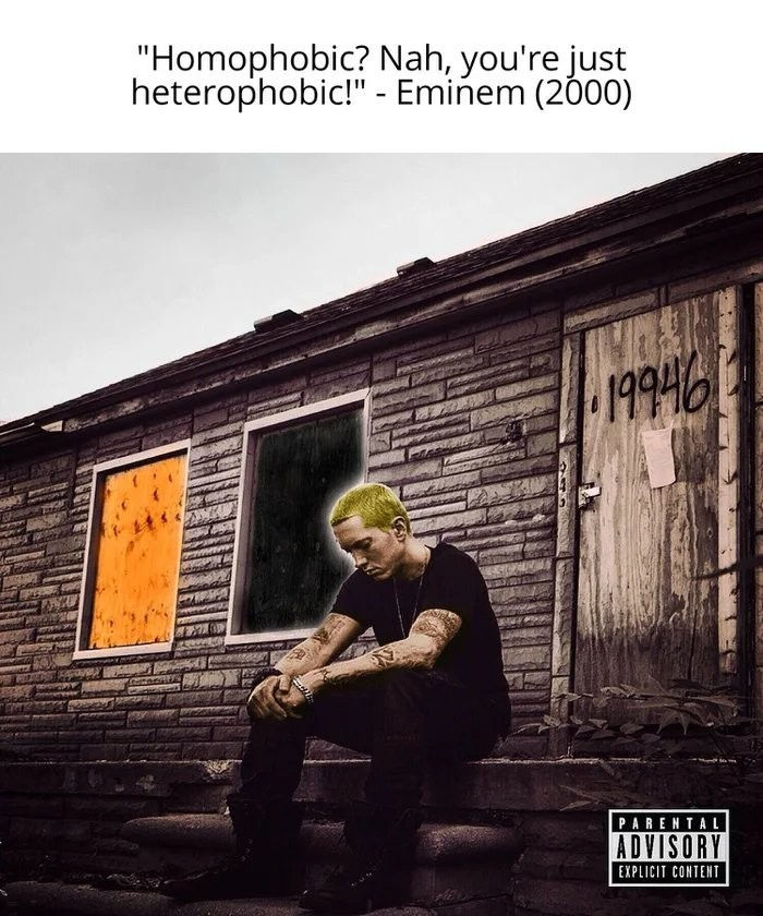 I found out why the left wants to cancel Eminem - meme