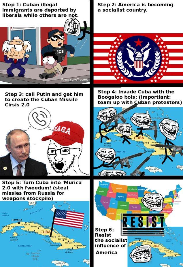 Cuba protest - meme
