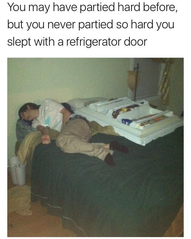 refrigerator door - meme