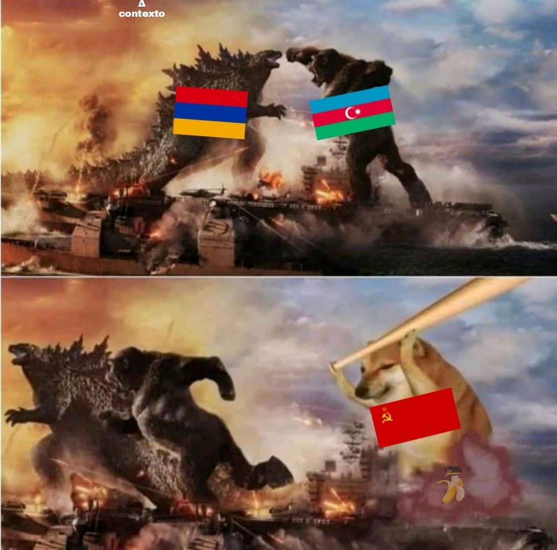 Guerra armenio-azeri de 1918 resumida en una imágen - meme