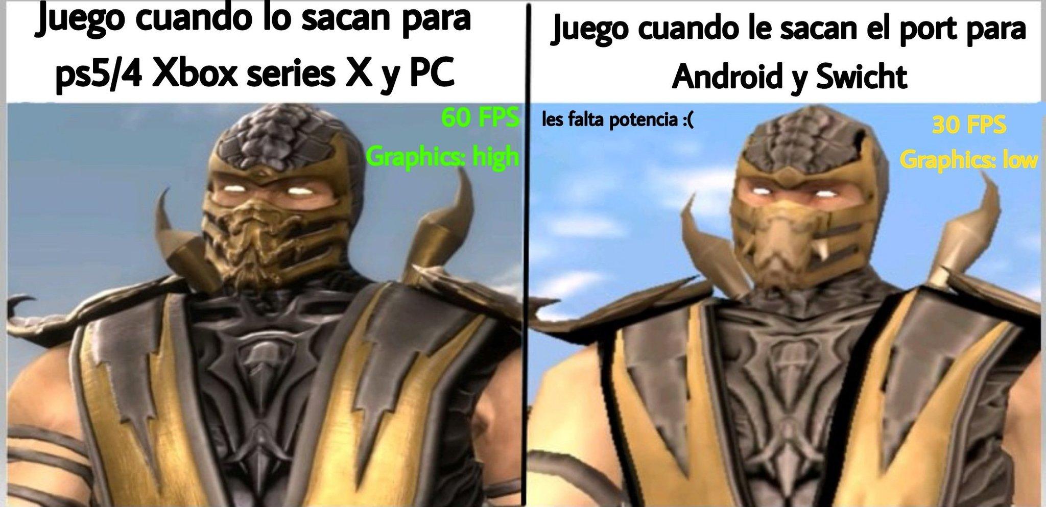 Obviamente les falta a los dos pa llegar a los que son PS4/5 y PC - meme