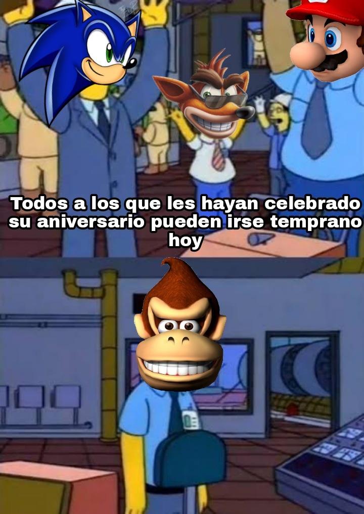 Hijos de puta Nintendo, gracias a Donkey Kong existe Mario - meme