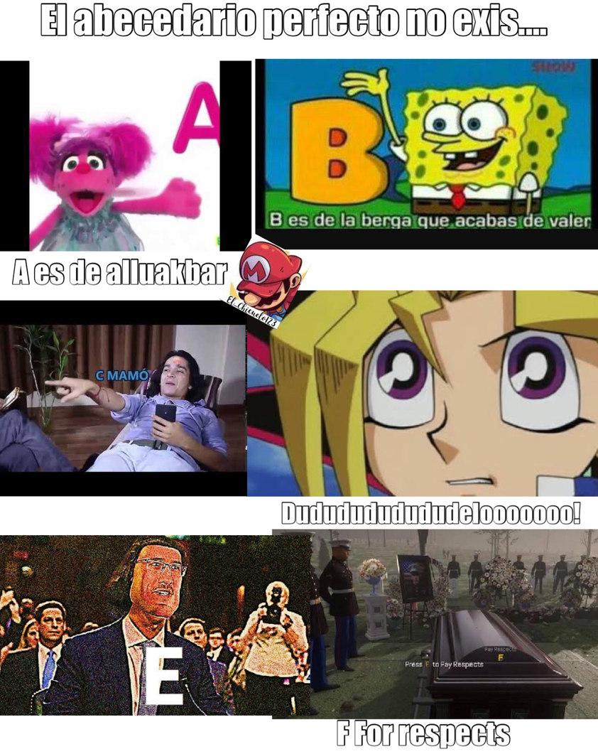 Así es como aprendí el abecedario en la primaria:v - meme