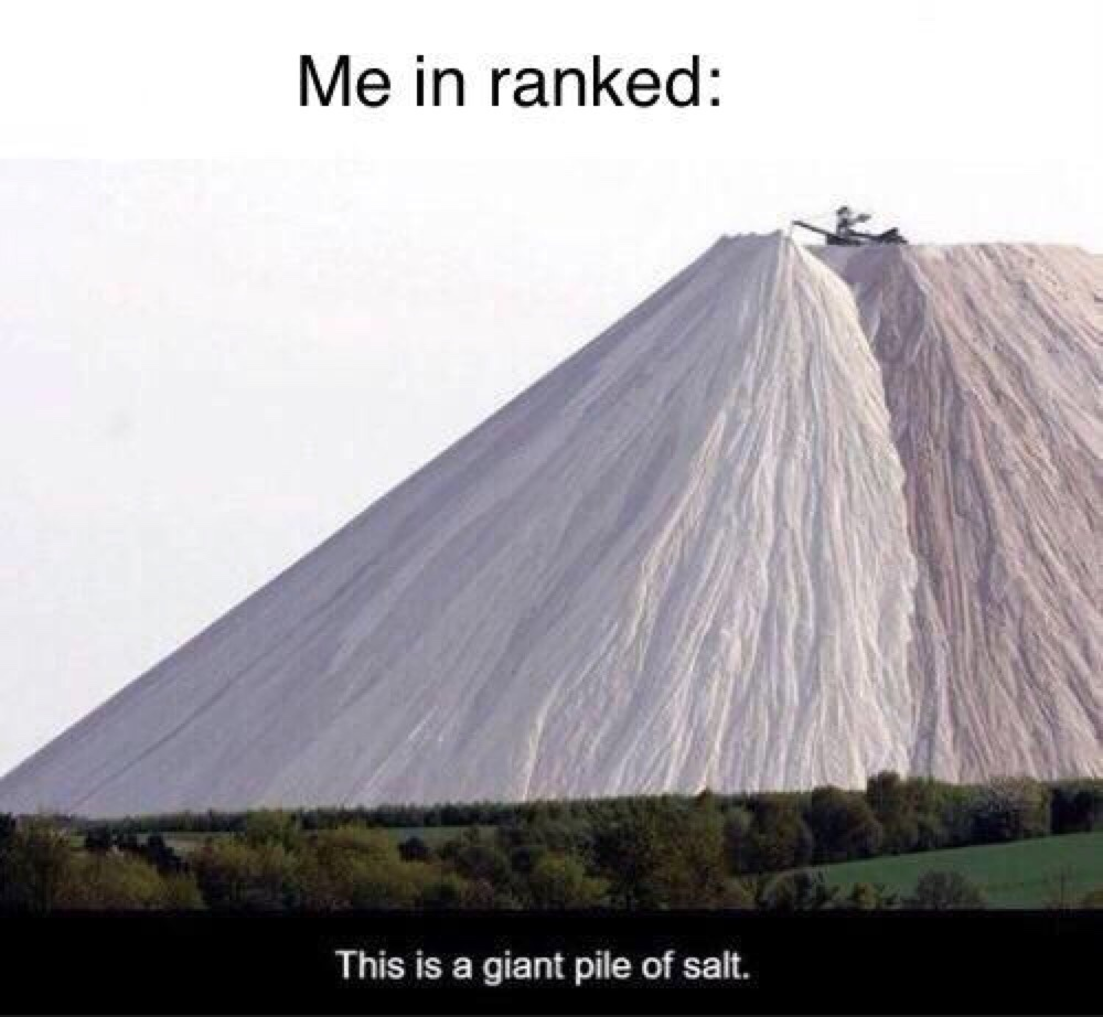 can't enjoy a game without a little salt - meme