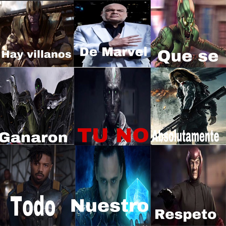 Lo mejor de Marvel - meme