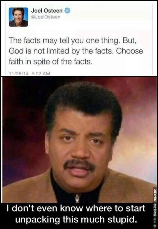 Religion is a joke - meme