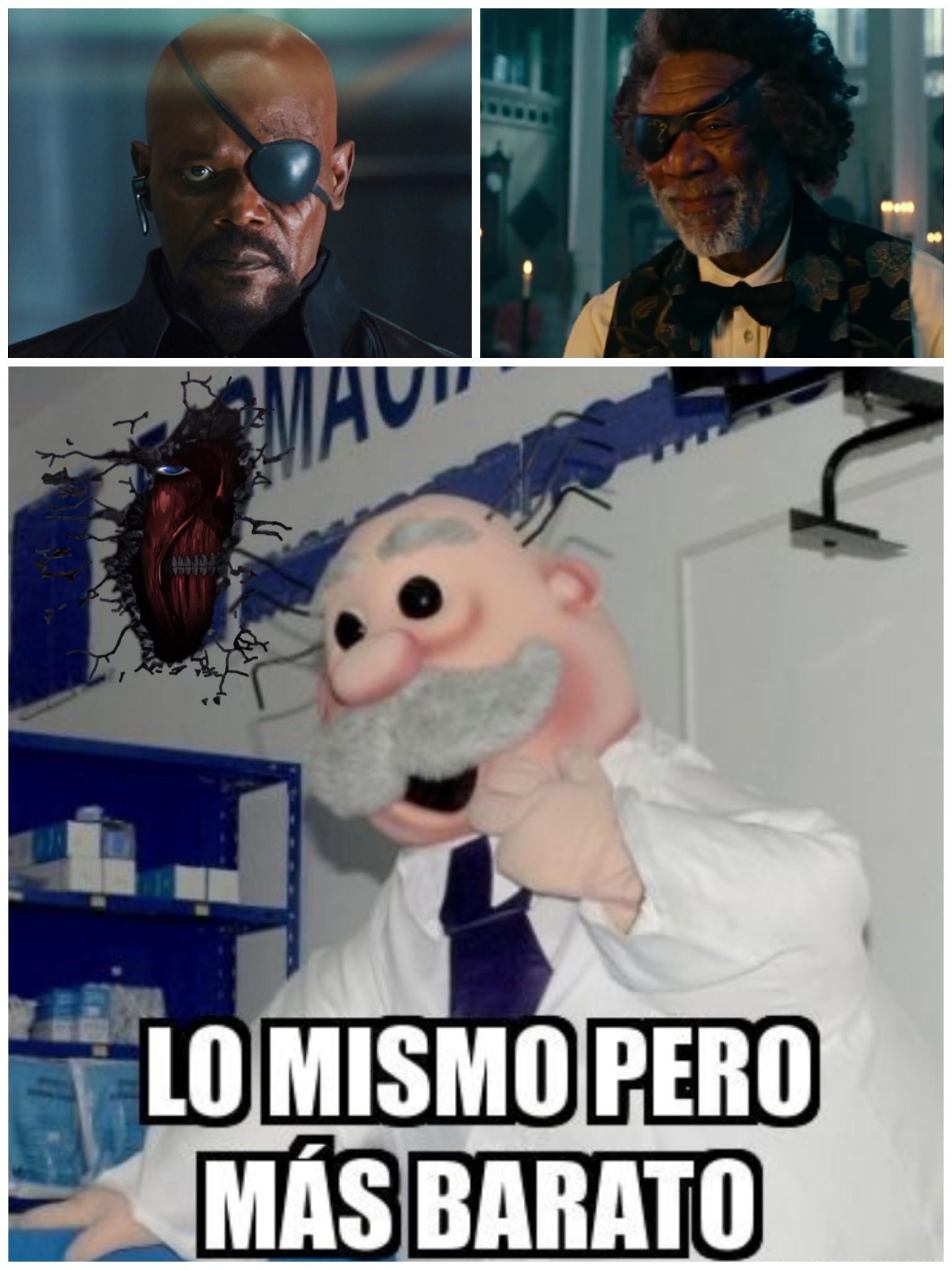 Samuel L. Jackson y Morgan Freeman... - meme