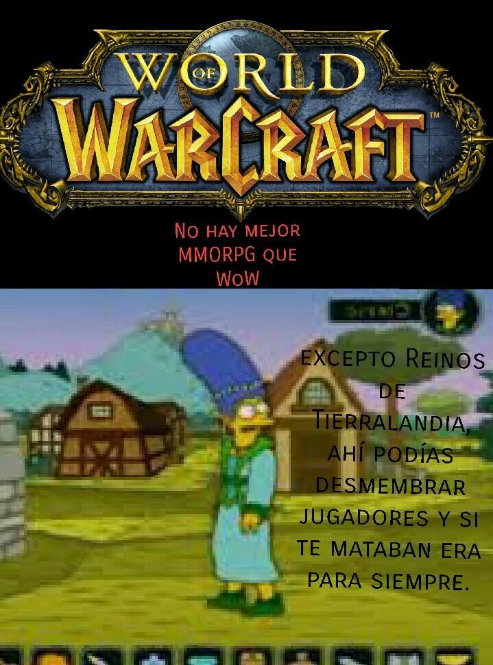 Aguanten los MMORPG - meme