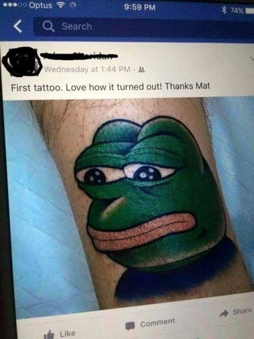 The Best Pepe Tattoo Memes Memedroid