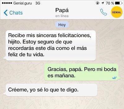 jajajajaja muy sabio el padre - meme