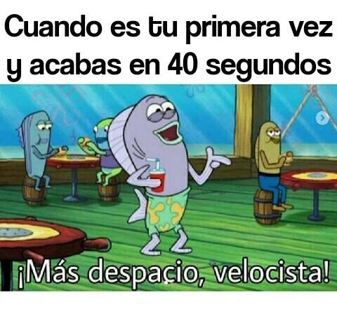 Más despacio velocista - meme