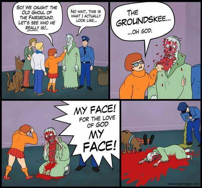 HOW CAN SHE RIP OFF SOMEONE'S FACE? IS SHE THE NEW SHAGGY?! - meme