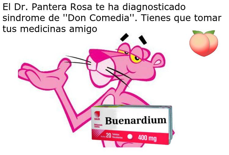 Mi infancia se basa en la Pantera Rosa :') - meme