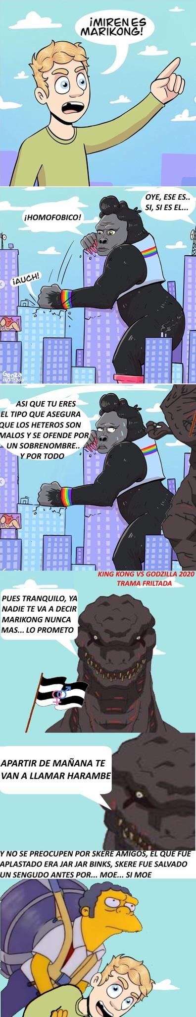 Godzilla el heroe del patriarcado - meme