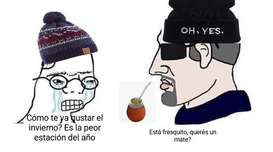 Piola el invierno - meme