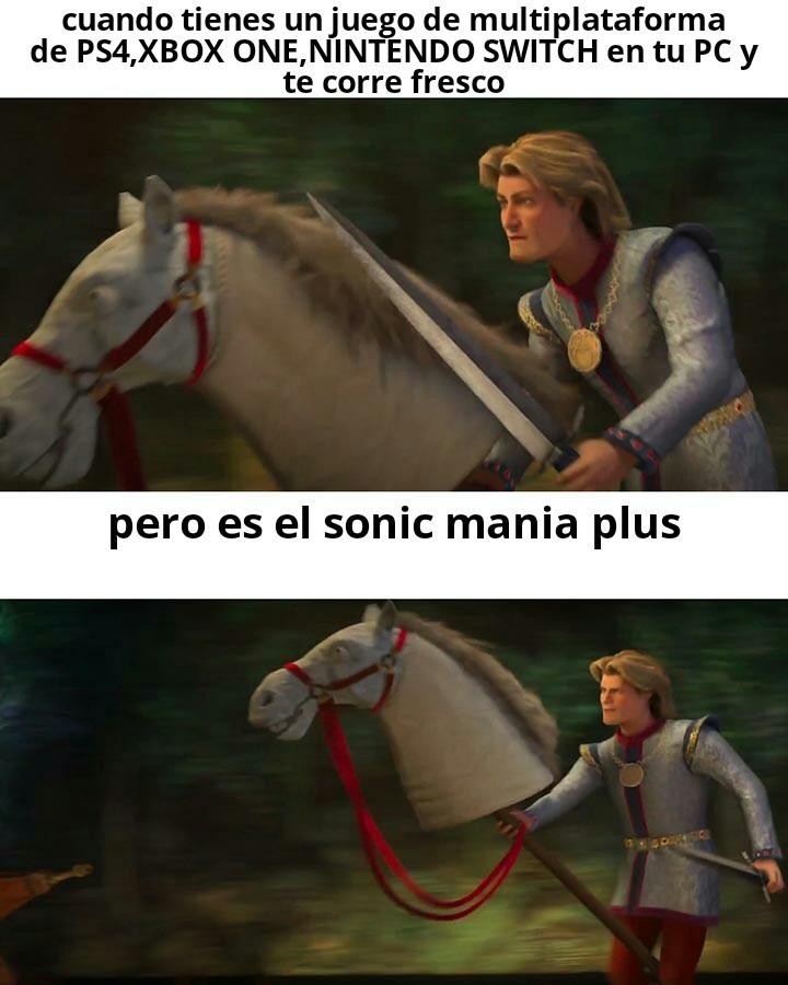 Si wey el sonic mania plus corre fresco - meme