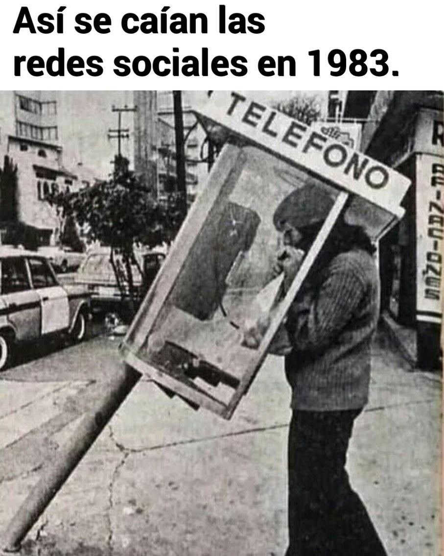 Las redes sociales en 1983 - meme