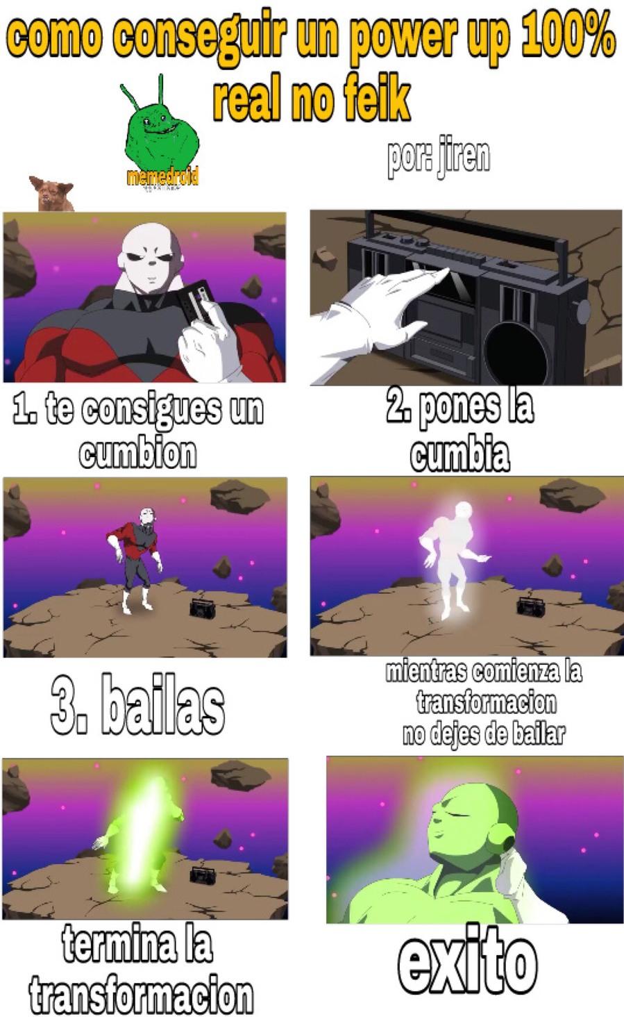 el poder de la cumbia - meme