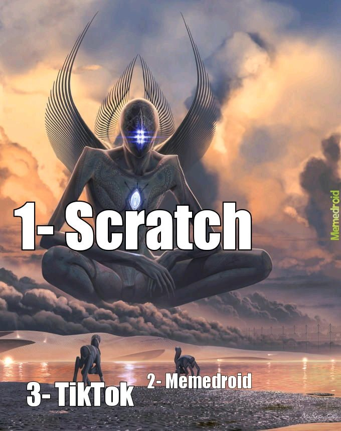 The virgin TikTok :genius: , the normal memedroid :poker: , the chad scratch :chad: