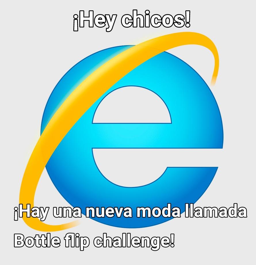 Botella voltear desafio - meme