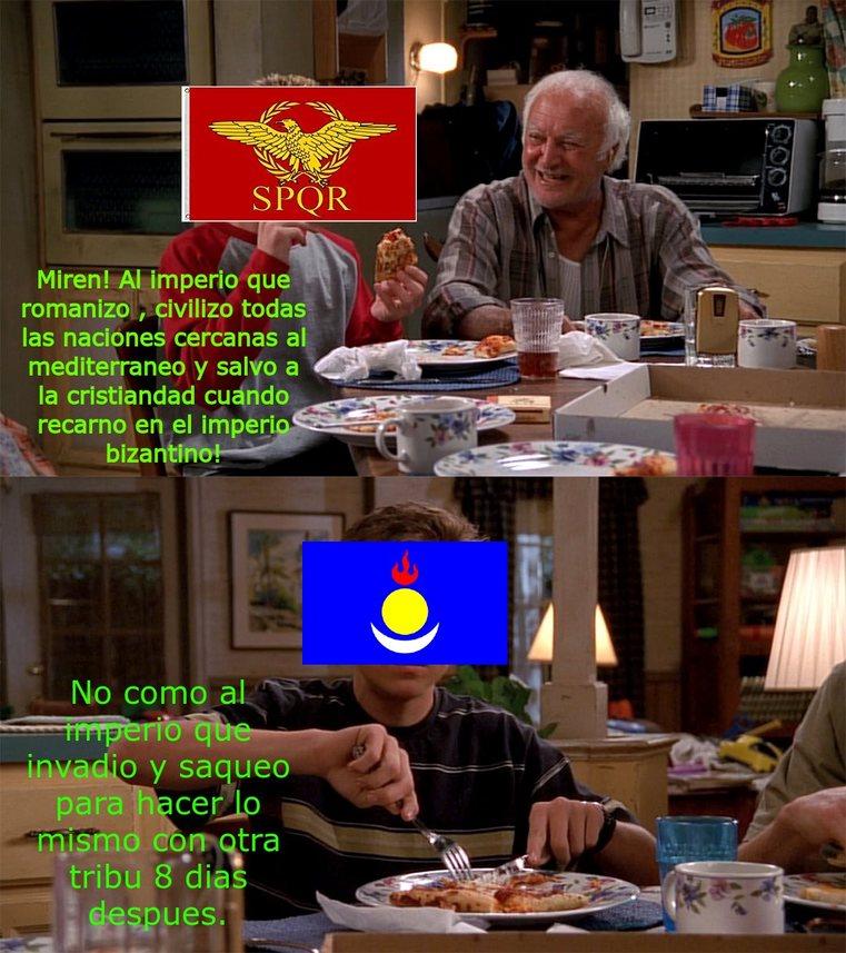 Romanos vs Mongoles - meme