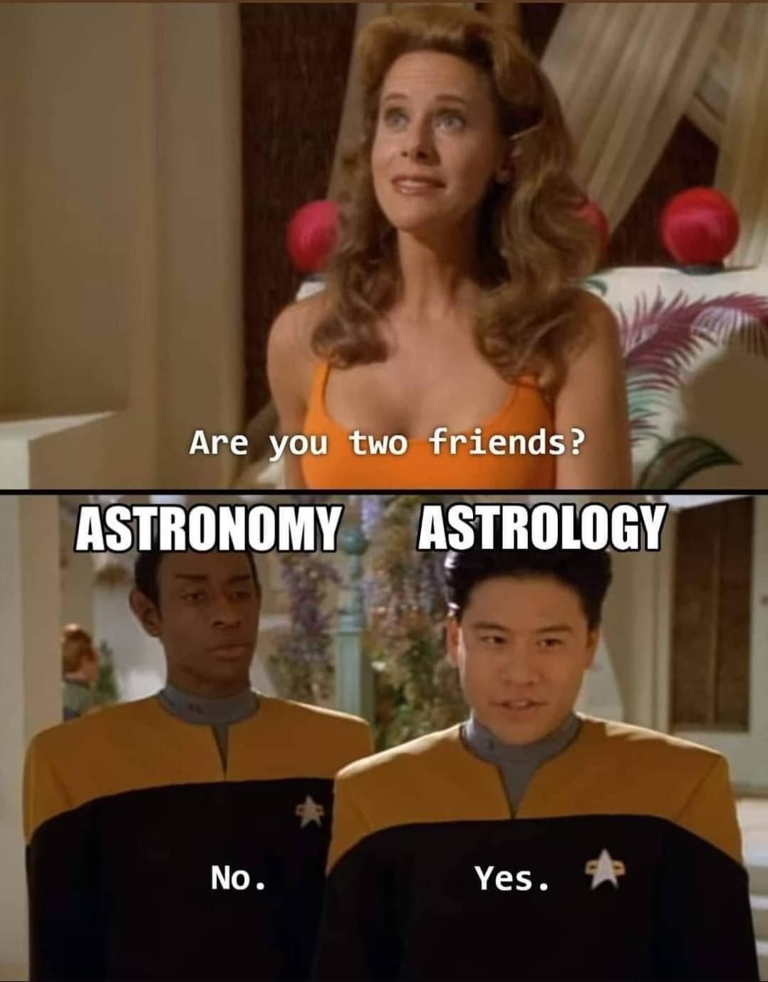 Astrology is big gay - meme