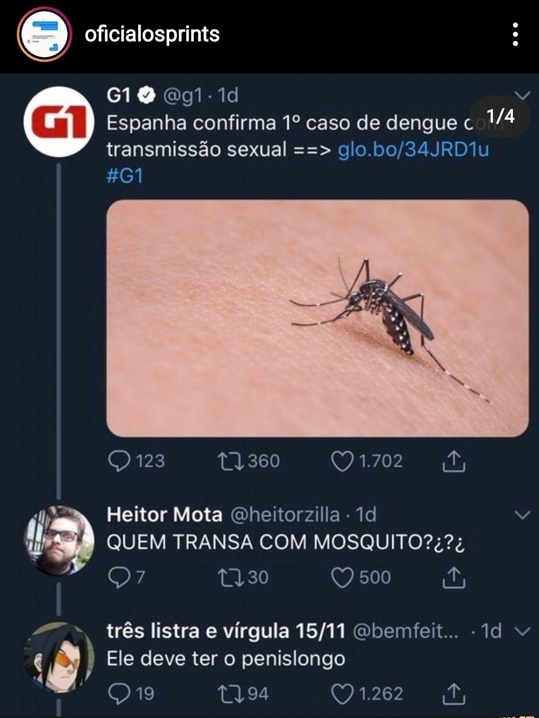 o título pegou dengue - meme