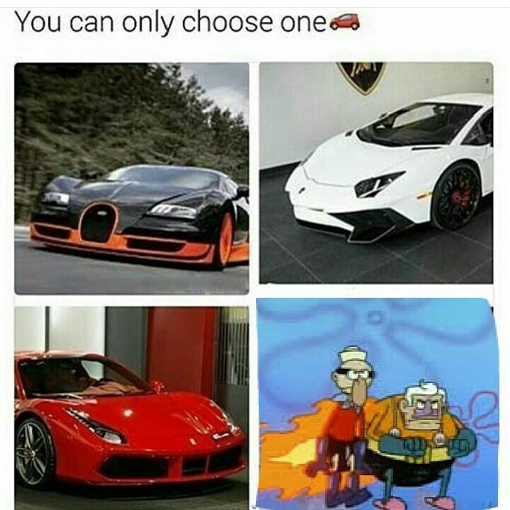 It's hard to choose... - meme