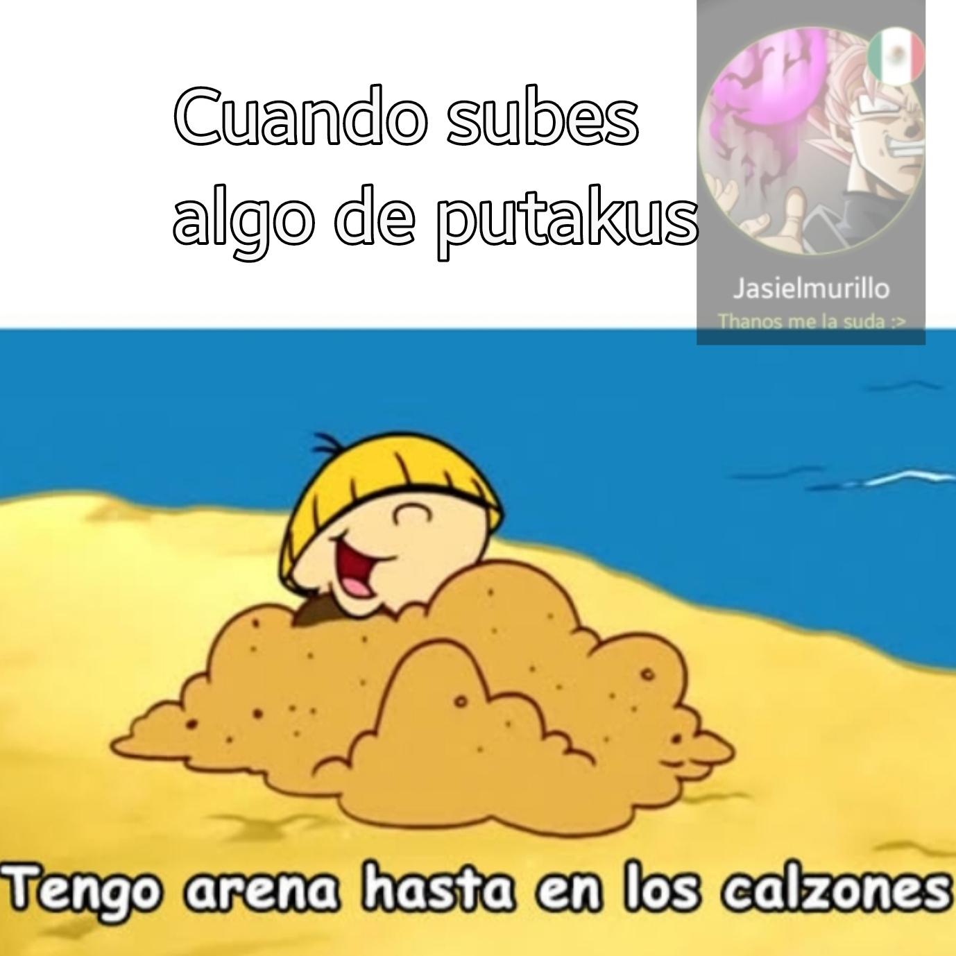 Tengo arena en la polla - meme