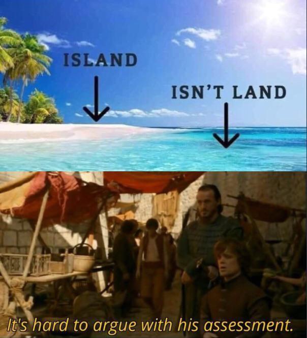 The word Island - meme
