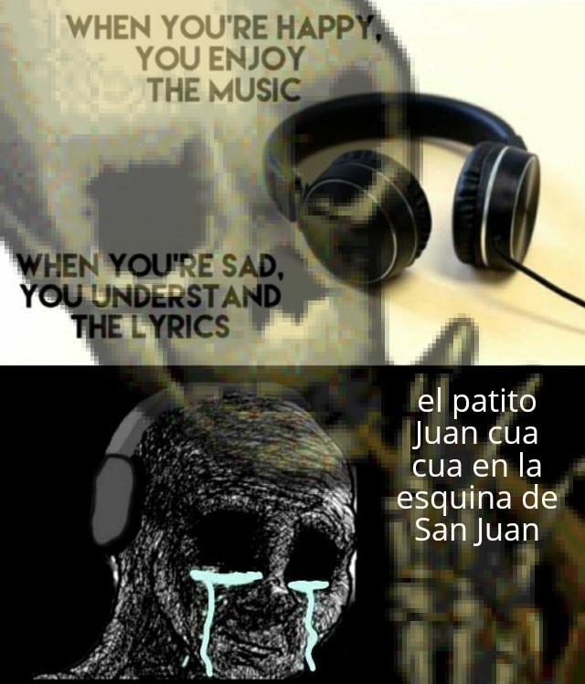 Plantilla muerta, pero se me ocurrió o no si ya utilizaron está canción - meme