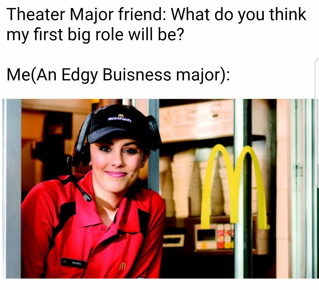 Where my marketing majors at? - meme