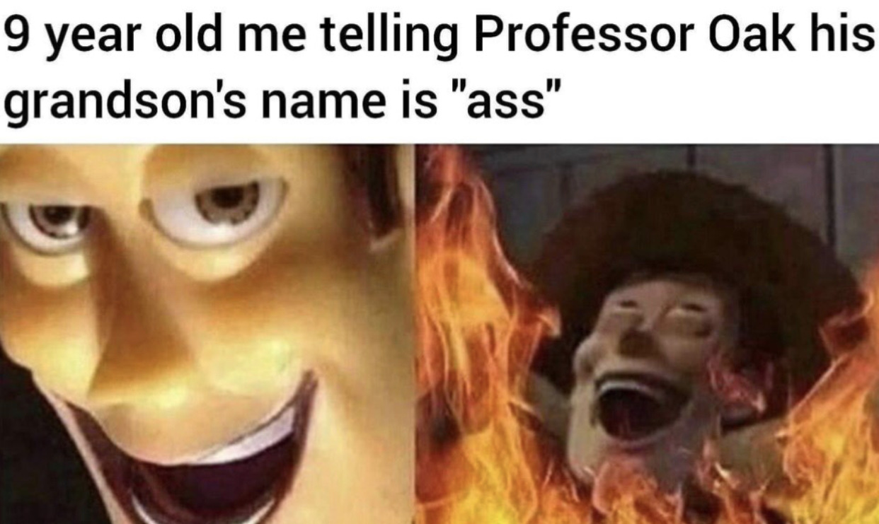 gary oak - meme