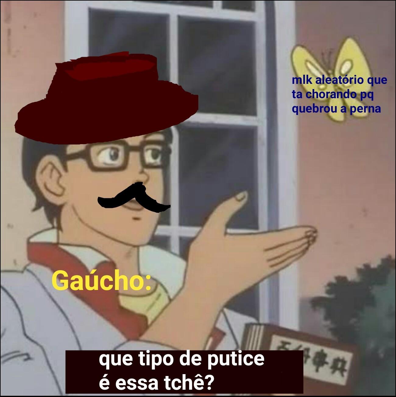 *Gaúcho aleatorio falando PUUUUUUUTO joined in the server - meme