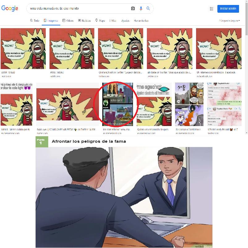 busque la plantilla para un meme y aparecio el mio