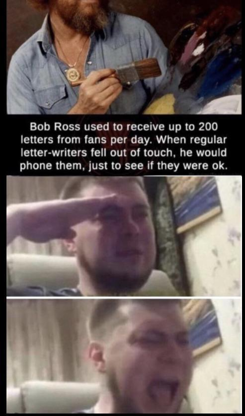 Rip bob ross - meme