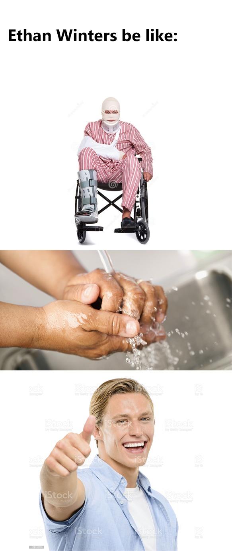 Washing your hands is op - meme