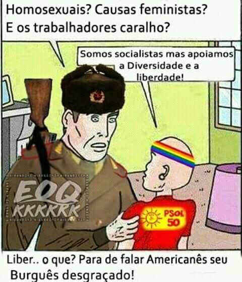 Liberais estragaram até mesmo o comunismo - meme