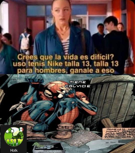 Pobre Spiderman Durante años salvó a NY y lo tienen como vagabundo - meme