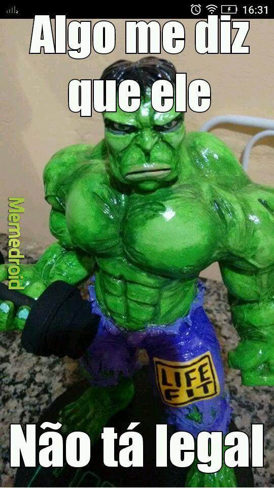 Hulk um tanto quanto especial - meme
