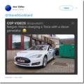 Belgian Police charging a Tesla with a diesel generator