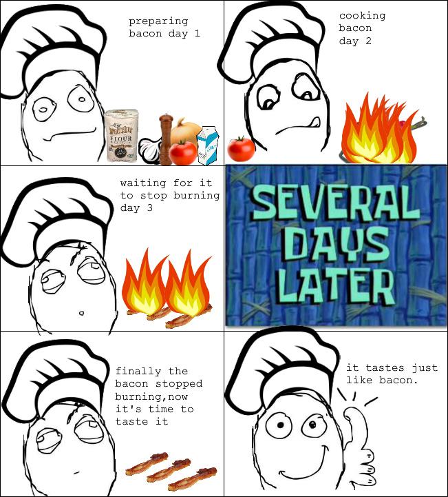 making bacon - meme