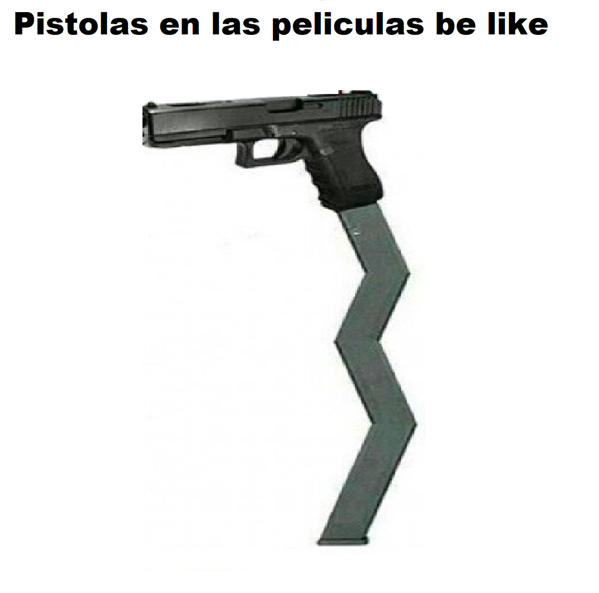 pistolas en películas be like - meme