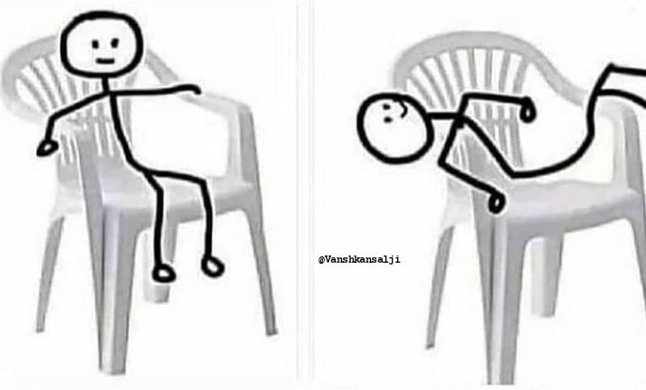 The comfortable way to sit - meme