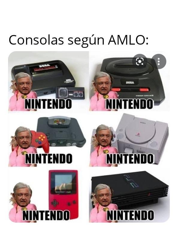 Consolas de AMLO - meme