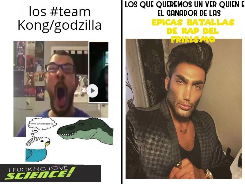 Epicas batallas de rap del frikismo - meme