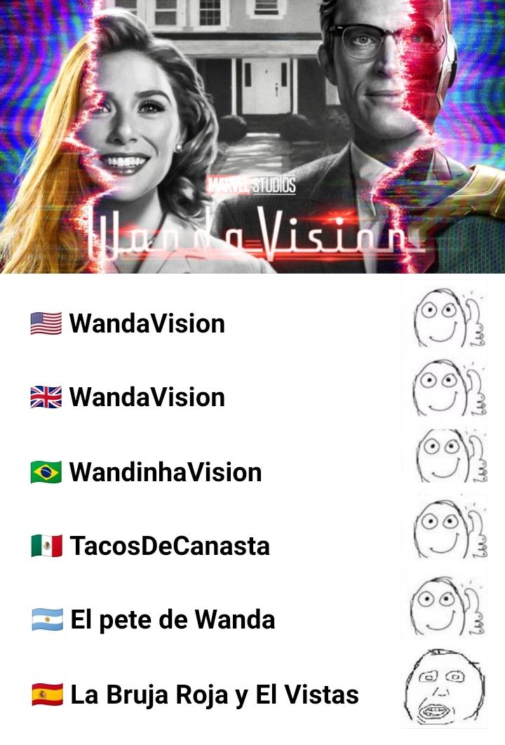 No se que tienen los españoles, a todo le cambian el nombre - meme