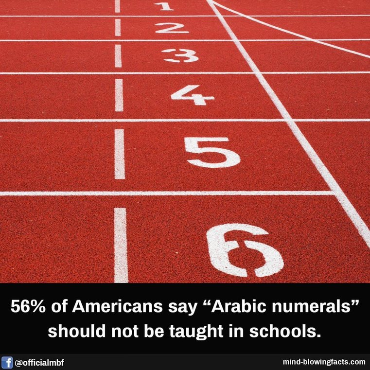 """""""Arabic numerals"""" are numbers like 1 2 3 FYI - meme"""