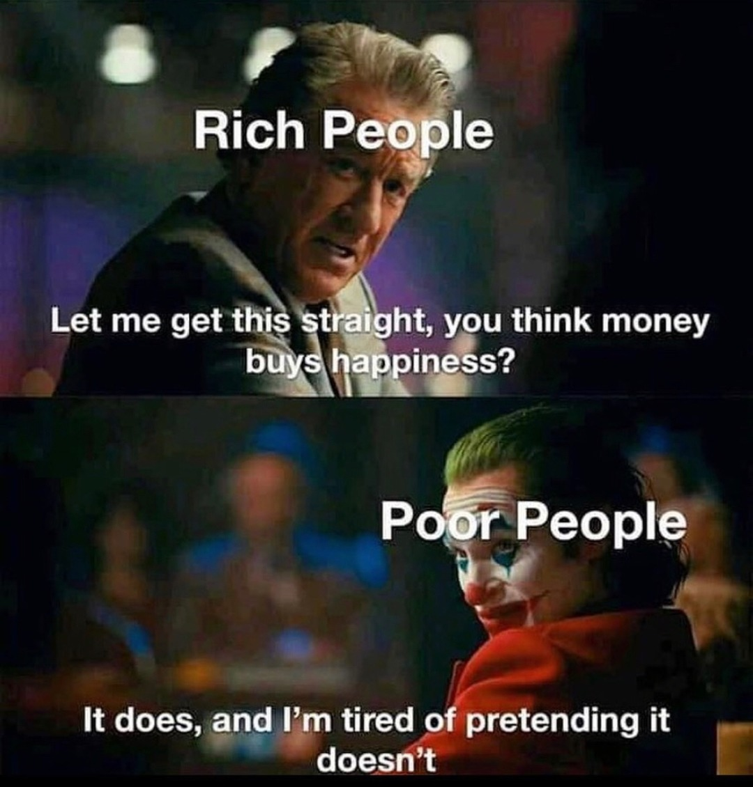 rich people are gonna get what they fucking deserve - meme